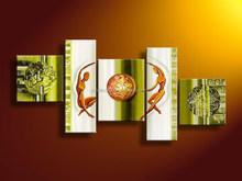 Newest Wall decorative handmade modern art design Group Oil Painting