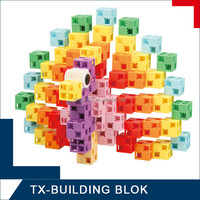 200 pcs block set - plastic geometry model toy