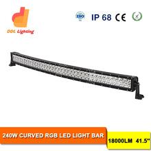 4x4 Wd Curved 240W RGB Color Strobe LED Light Bar