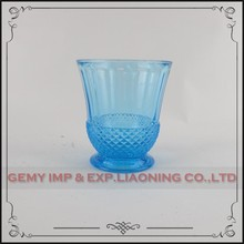 wine glass cup hand blown colored cheap drinking champagne glass