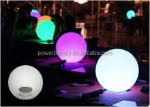 16 color changing LED solar floating swimming pool balls built-in solar panel
