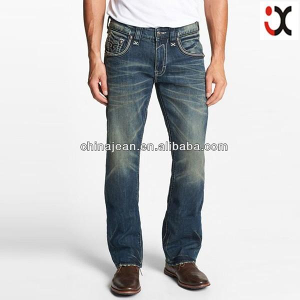2015 Designer Jeans Wholesale For Men Denim Jeans Back Pocket Embroidered (jxl21959) - Buy Denim ...