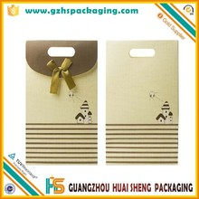 Chinese style wide button clothing paper bag kraft paper bag for gift & craft