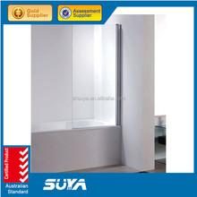 Factory temper glass square walk in shower toilet enclosure