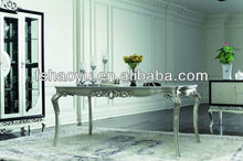 classical european style dining wooden table/wood dining table designs/rubber wood oval dining table