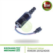 excavator KWE5K-20/G24D05 electric rotary solenoid valve safety locking pilot valve for HD820 excavator parts KZ hot sale