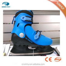 2015 New design ice skating shoes Blue Red Pink color China factory professional manufacturer
