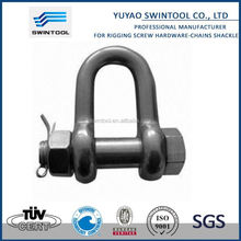 SGS certificated carbon steel bow shackles with screw pin