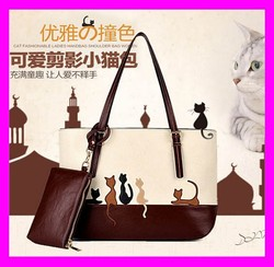 2015 Hottest fashion beautiful ladies handbags pu leather shoulder bags wholesale HD1638