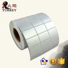 Silver barcode label rolls 32X19MM PVC/PET sticker paper stock in trade
