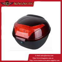 Super Quality 32L ABS/PP Plastic Red Motorcycle Accessories Tail Box With Aluminum Brass Key