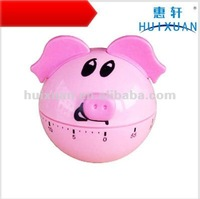 alibaba express cute round pig head Kitchen Timer