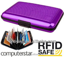 Aluminum card case wallet RFID blocking