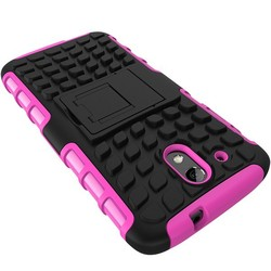 rubber plastic and TPU combo case for htc desire 526G+