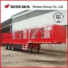 3 axle animal transport vehicle :cargo stake semi trailer