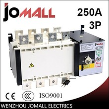 PC grade ats 250amp 400v 3 pole 3 phase automatic ransfer switch for generator