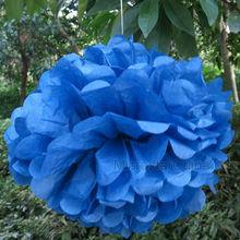 """Royal Blue 14"""" 35cm Tissue Paper Baby Shower Flower Ball"""