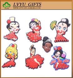 2015 promotion custom tourist souvenir decoration 3d wholesale soft pvc fridge magnet