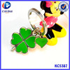 Made In China Promotional Items Lovely Pretty Pink Flower Shaped Keyring