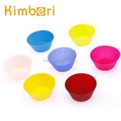 Eco-friendly colorful round shape silicone cupcake