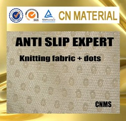 polyester or cotton anti skid gripper fabric with rubber dots for baby pajama feet slippers
