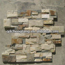 natural cheap mixed stacked slate/indoor decorative stone