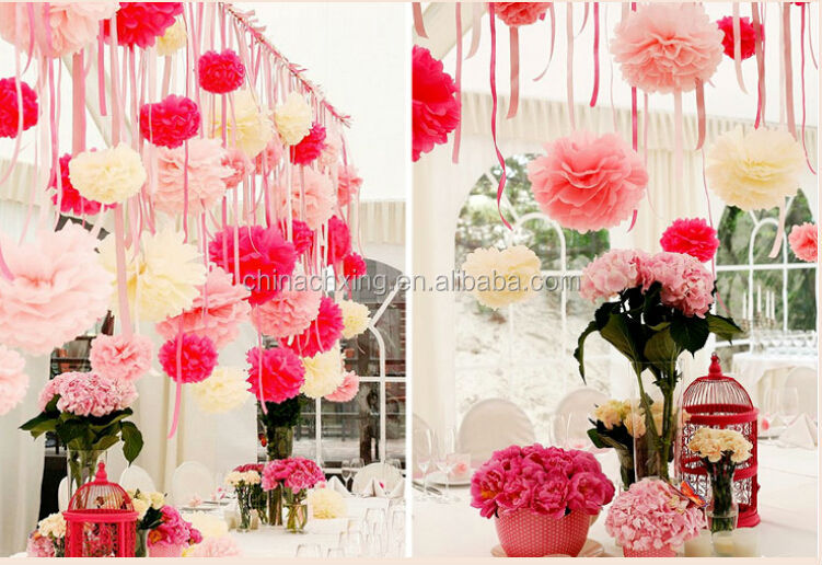 16inch 40cm paper flower wedding wall decorations diy pom pom paper qq20140619154824g mightylinksfo