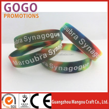 silk screen printing Silicone wristband in many color, New hot Promotion Fashion popular Rubber Silicone Wristbands