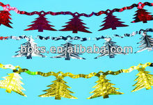 plastic Christmas tinsel foil streamer decorations