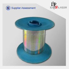 Pet metallized tear tape for cigarette boxes