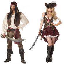 C100 Wholesale Adult Fancy Dress Pirate Ship Captain Costumes