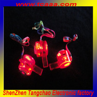 Promotional Glow In The Dark led plastic bird whistle for party