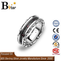 Hiphop Jewelry Thai Silver Dragon Shaped men antique ring