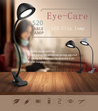 gooseneck USB eye-care flexible clamp LED table lamp