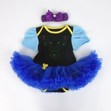 Halloween Items 100% cotton infant jumpsuits baby jumpers Hellowen headband style dress Kazakhstan two piece