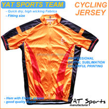 Fashion design Yat Sports team printed sublimation wholesale cheap Cycling jersey