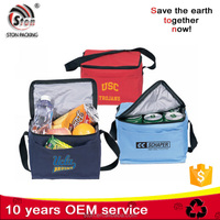 Customized logo printable Promotional cooler bag for frozen food or bottle cans