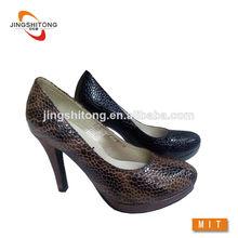 leopard impreso el último diseño de moda las mujeres sexy zapatos de tacón alto