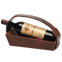 new design PU leather wine holder with high quality