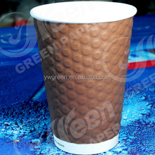 christmas paper coffee cups with lid/ disposable food paper cup/ take away paper cup Green paper cup