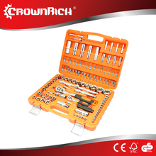 "108pcs star tools factory -1/4""&1/2"" square driver CR.V steel forged chrome plated 108 pcs socket set hand tools in"