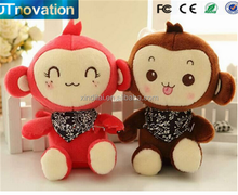 High quality Hip-hop plush recordable sound stuffed monkey