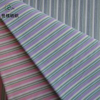polyester cotton stretch yarn dyed stripe fabric for garment