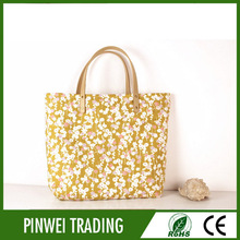 wholesale fashion reusable folding canvas shopping bag, fabric shopping tote gift bag