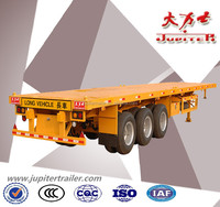 Manufacture 40ft three axle flatbed trailer for carrying container