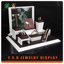 low price customized acrylic earring and necklace display cards