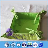 cotton linen fabric heated bread basket
