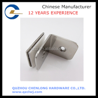 Metal tamped bracket glass clamp