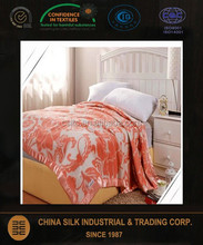 100% Pure Silk Throw Blanket Bedspread Size