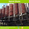 resistente à corrosão mina gravidade separador de fibra de vidro espiral chutes